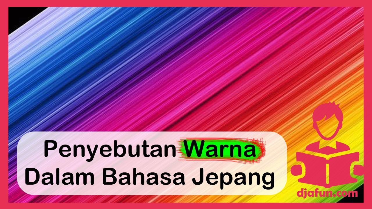 warna-warna bahasa jepang